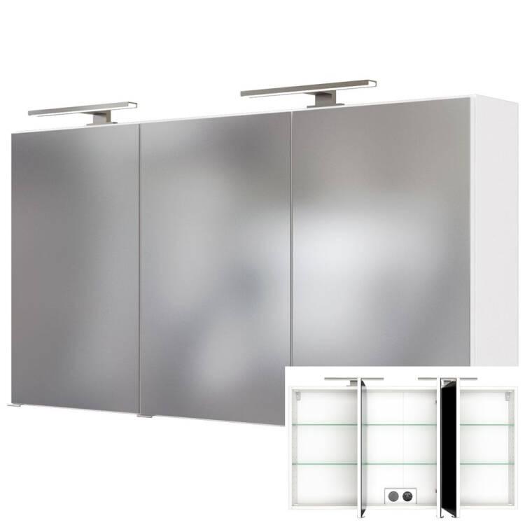 Badezimmer Spiegelschrank mit Doppel-LED-Beleuchtung