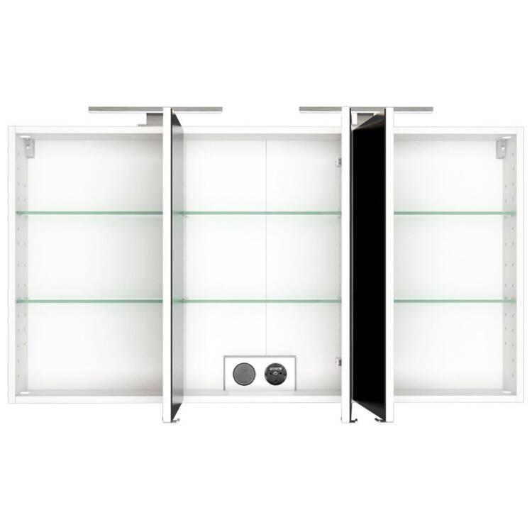 Badezimmer Spiegelschrank Mit Doppel Led Beleuchtung Florido 03 In Weiss B X H X T 120 X 64 X 20 Cm
