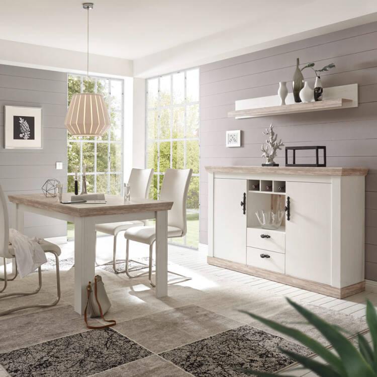 Fantastisch Esszimmer Kombination FARO 61 Im Landhaus Design Pinie Weiß Und Oslo