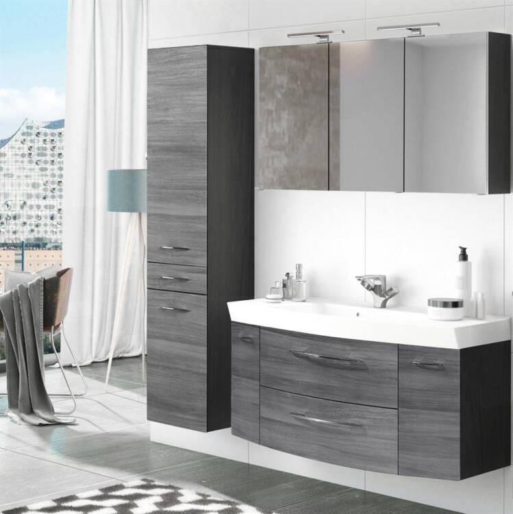 Badezimmer Waschplatz Set 3-tlg mit 120cm Waschtisch