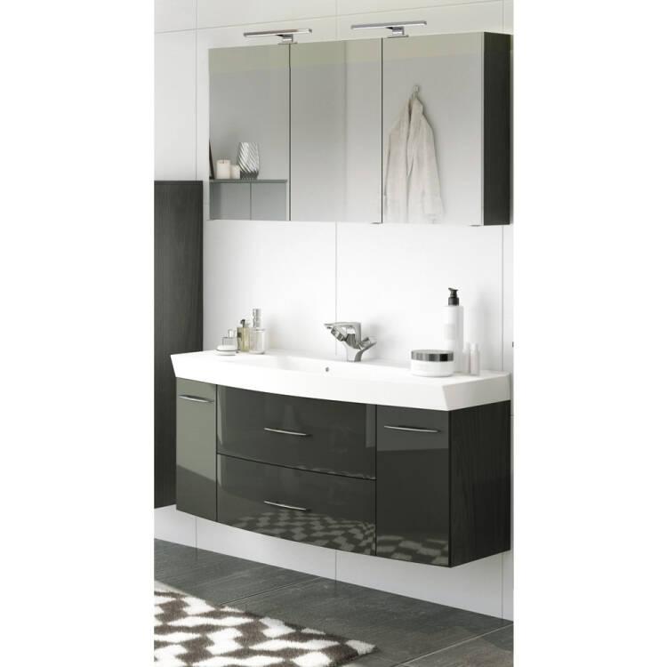 badezimmer waschplatz set mit waschtisch led spiege