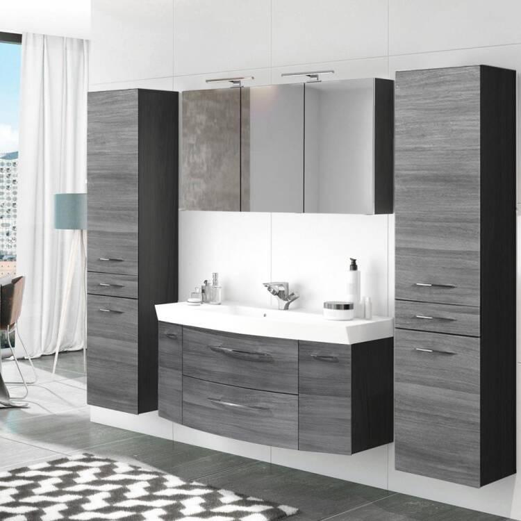 Badezimmer Waschplatz Set 4-tlg mit 120cm Waschtisch