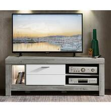 Modern TV lowboard incl. LED in matt white and haveleiche...