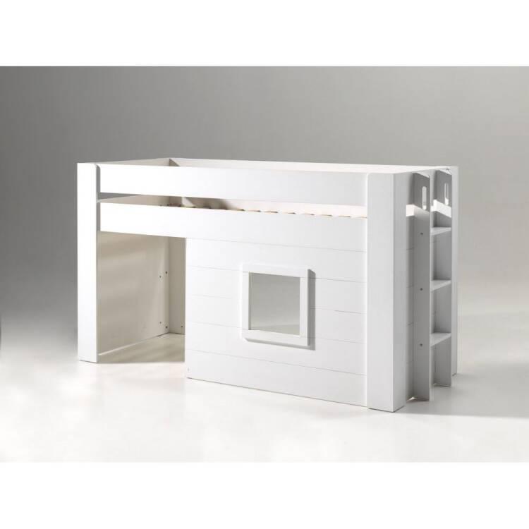 bettgestellt nohra 12 halbhohes bett mit liegefl che 90 x. Black Bedroom Furniture Sets. Home Design Ideas