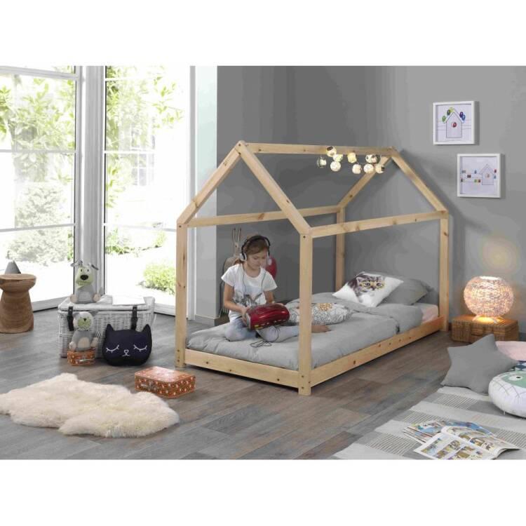 Kinderzimmer Bett in Hausform Hausbett HAYN-12 Liegefläche 90 x 200 cm