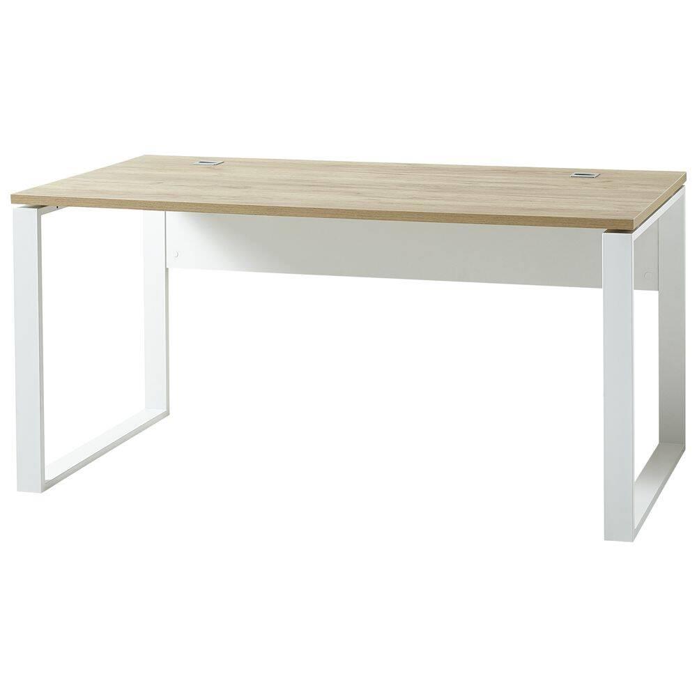 Buro Schreibtisch In Navarra Eiche Nb Und Weiss Gent 01 Bxhxt Ca 158x