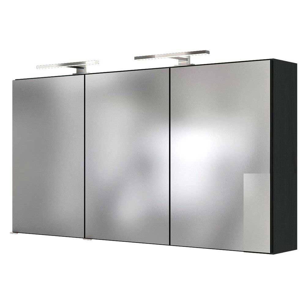 Badmöbel LED Spiegelschrank 120 cm ARLON-03 graphit BxHxT 120x66x20cm