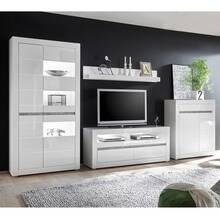 Wall unit in white high gloss with concrete COGO-61 incl....