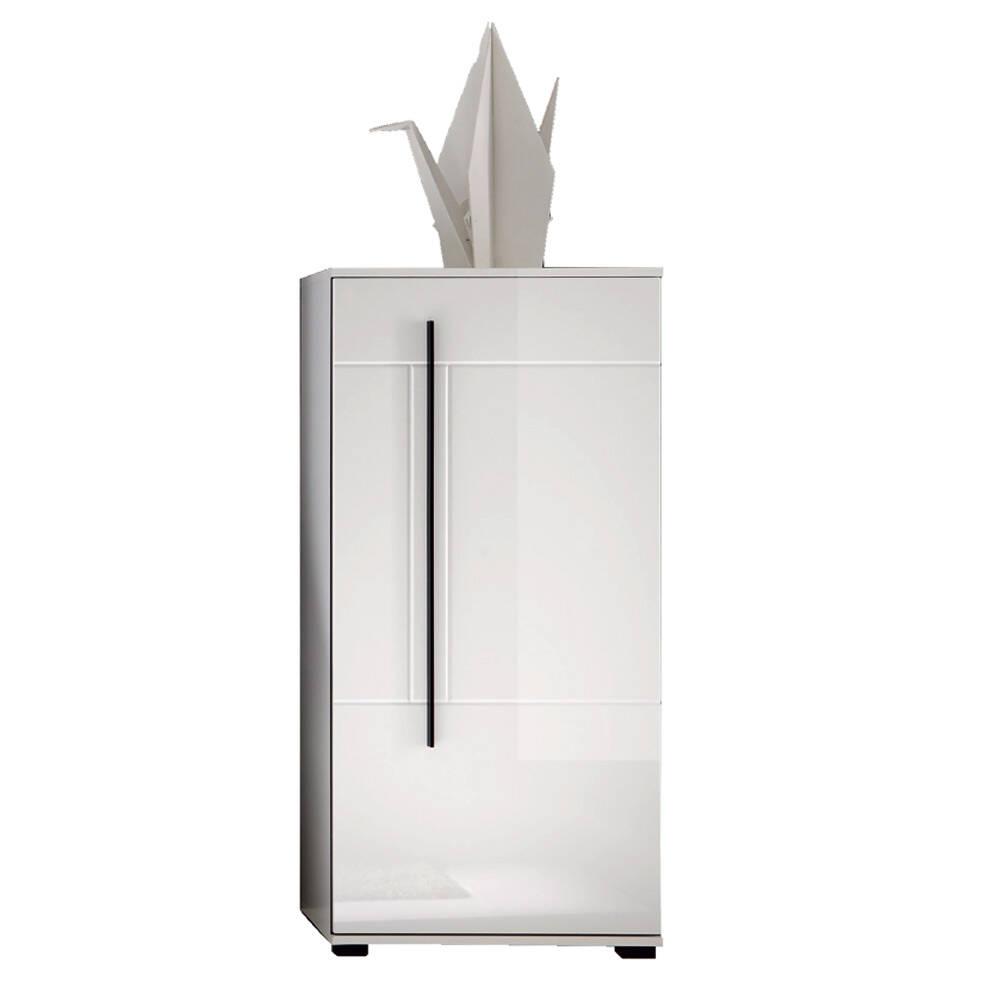 Kommode COLORADO-61 in weiß Hochglanz mit einer Tür BxHxT: 60x126x37cm