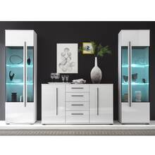 Wall unit set COLORADO-61 in white high gloss with 2...