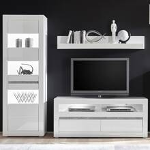 Wall unit in high gloss white COGO-61 TV solution with...