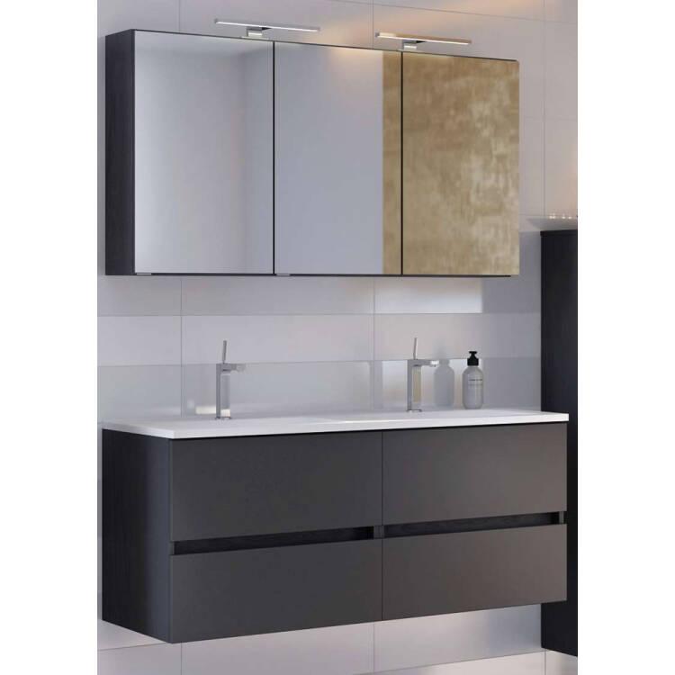 Badezimmer Möbel Serie ARLON-03 matt grau Selbst zusammenstellen