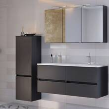 Bathroom Furniture Series ARLON-03 Matt Grey Self-Compile