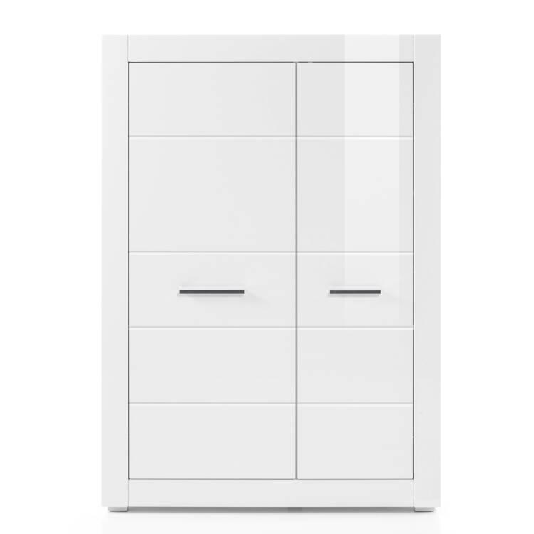 Wohnzimmer Kommode BALVE-61 modern in weiß Hochglanz