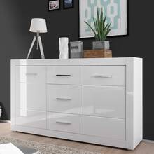 Living room sideboard in modern design BALVE-61 in white...