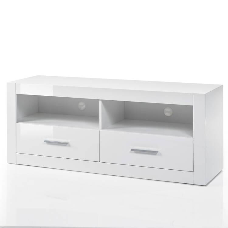3-tlg.TV-Lösung modern in weiß Hochglanz mit Wandboard & Kommode BxHxT:  230x139x45cm