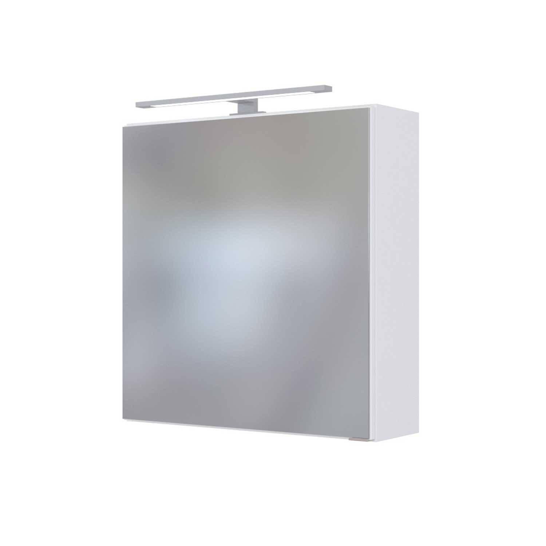 LED Spiegelschrank 60 cm TAREE-03 in matt weiß
