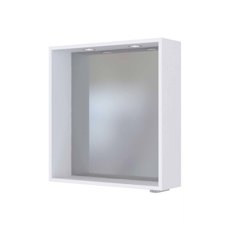Spiegelpaneel mit Touch LED Einbauleuchten TAREE-03 in matt weiß