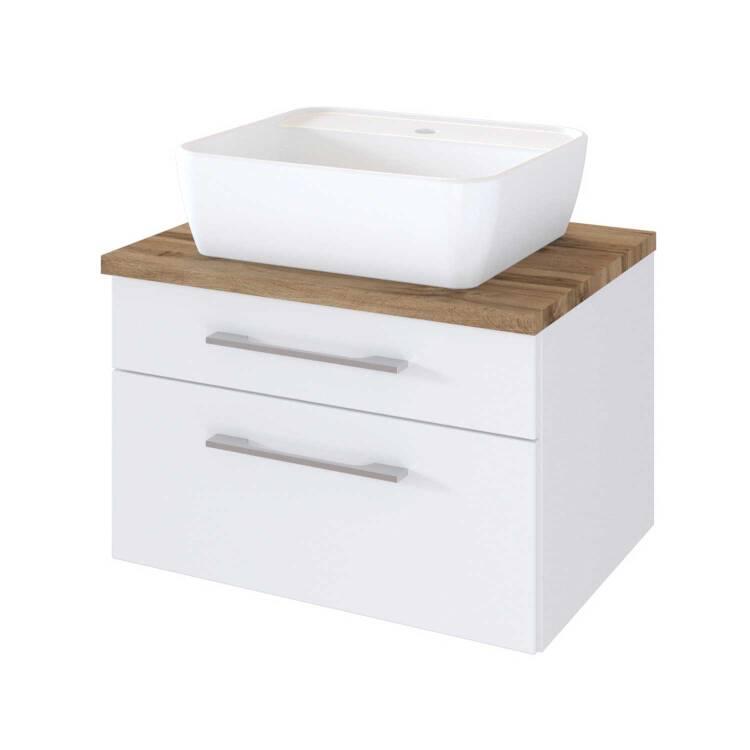 Waschtisch Unterschrank Mit Siphonausschnitt 60 Cm Inkl Keramik Aufsa