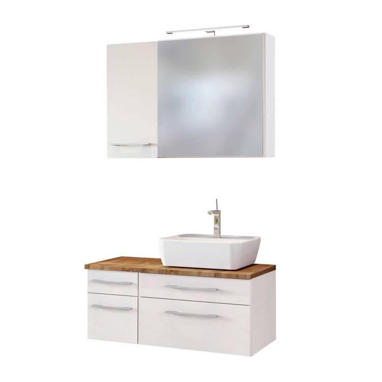 Badezimmer Waschtisch Unterschrank 90cm Taree 03 Mit Siphonausschnitt Rechts Inkl Keramik Waschbecken B H T 90 55 47 Cm