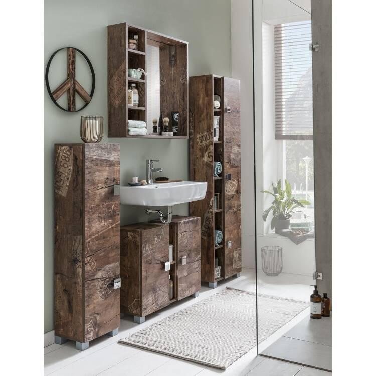 Badezimmer Waschbecken-Unterschrank EVERE-04 in Panam
