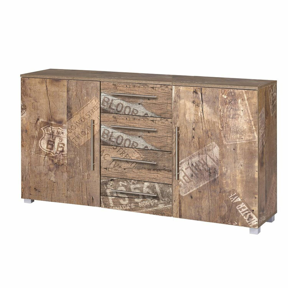 Anrichte Sideboard NIZZA-04 in Panamaeiche matt mit Holzstruktur B/H/T ca. 180,5/81,4/35cm