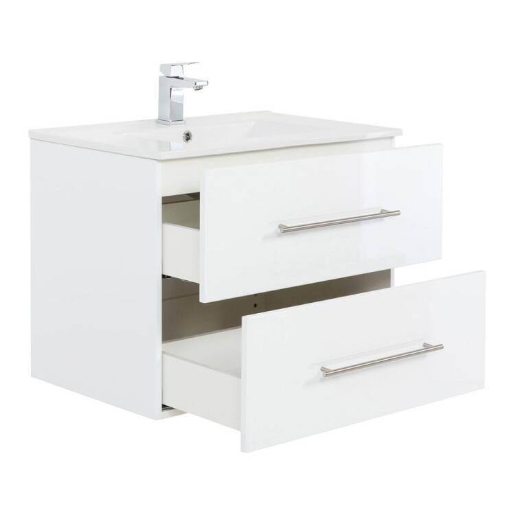 Waschtisch Badezimmer Hella 02 In Weiss Hochglanz Unt