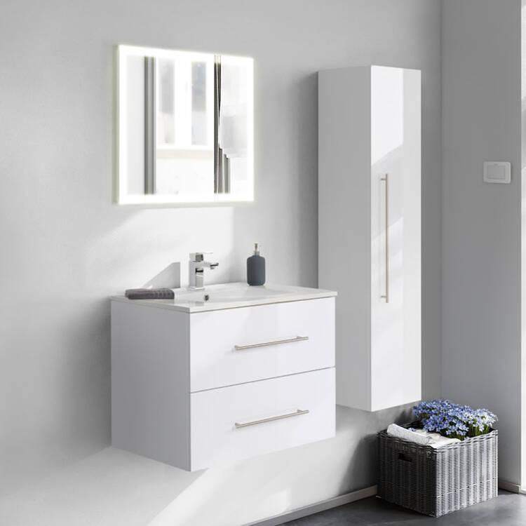 badm bel set hella 02 in wei hochglanz mit spiegel. Black Bedroom Furniture Sets. Home Design Ideas