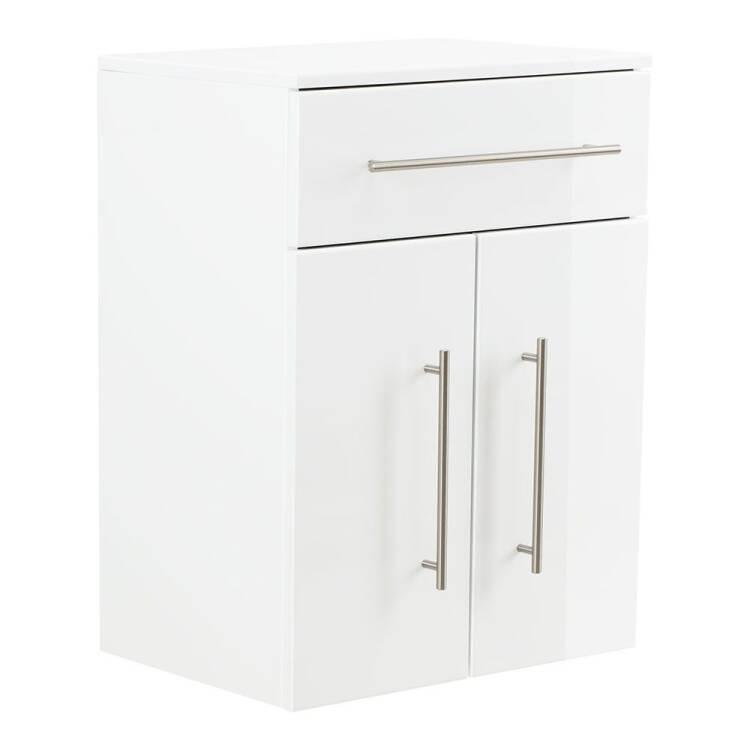 Unterschrank Badschrank Hängend Liberta 02 In Weiß Hochglanz Mit 2 Tür