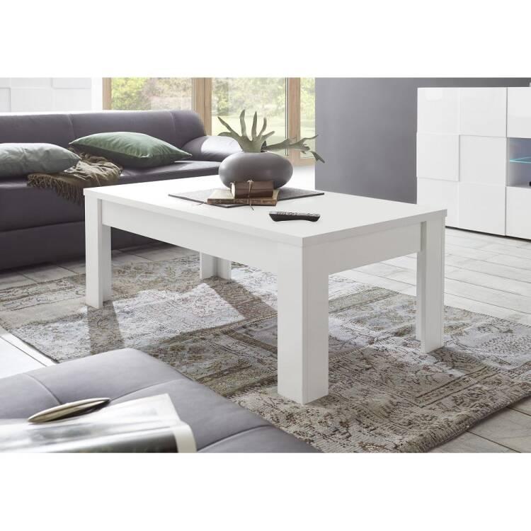 Moderner Wohnzimmer Couchtisch Farum 63 In Lack Weiß