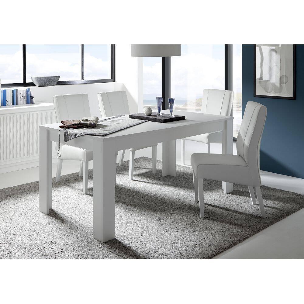 Esstisch FARUM-63 in weiß matt Lack (Lieferung ohne Stühle) - B/H/T: 180/79/90cm