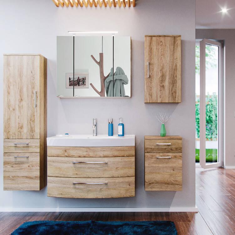 Badezimmer Möbel Serie RIMAO 100 Eiche Sonoma Selbst
