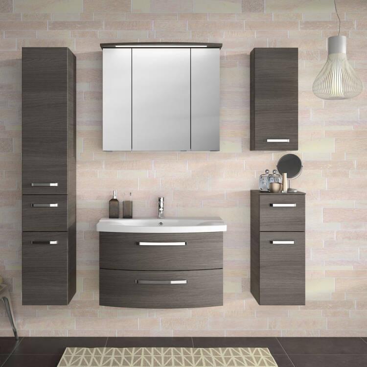 Badezimmer Waschtisch FES-4010-66 mit 80cm Unterschra
