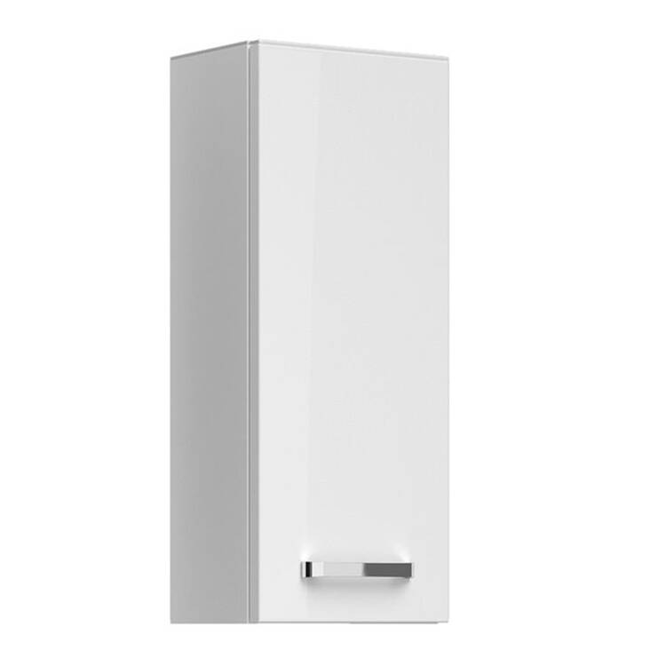 Badezimmer Wandschrank FES-4010-66 Hängeschrank in weiß glänzend - B/H