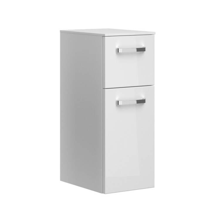 Badezimmer Unterschrank hängend FES-4010-66 in weiß glänzend mit 1 Tür