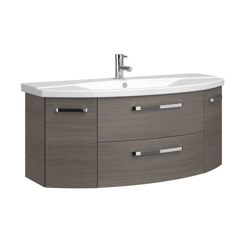 Badezimmer 120cm Waschtisch Fes 4010 66 Mit Wb Unterschrank Waschbec