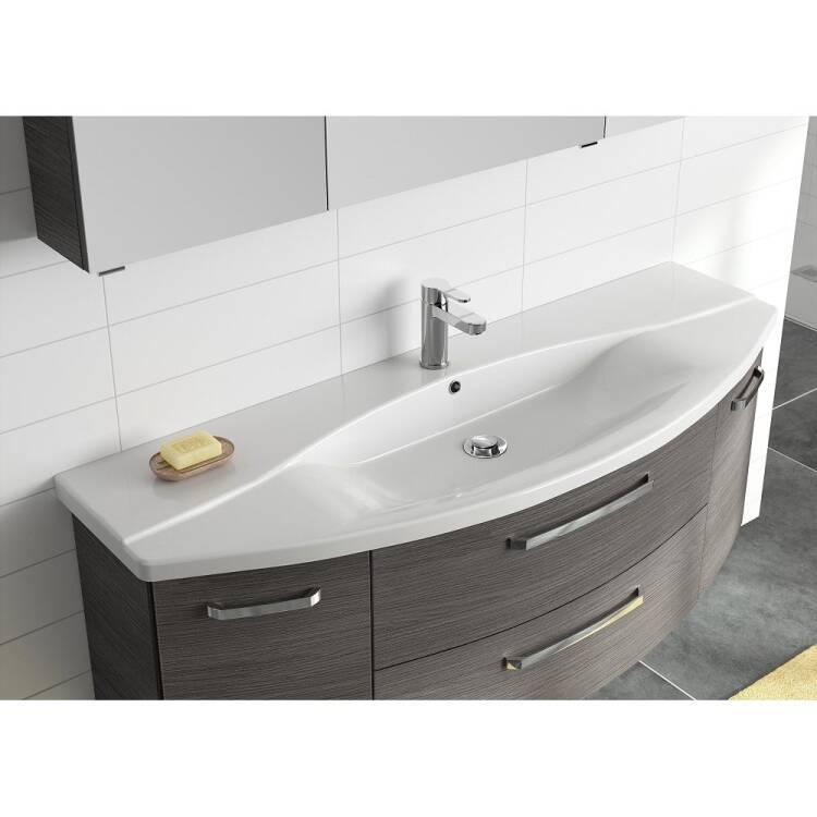 Badezimmer 140cm Waschtisch FES 4010 66 mit Unterschrank ...