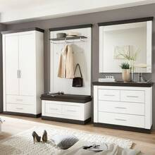 Wardrobe Series SALARA-61 Pine white self arrange