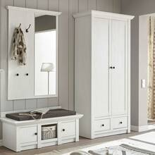 Wardrobe series WINGST-61 in country house style in pine...