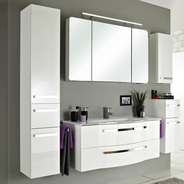 Badezimmer Wandschrank Fes 4005 66 In Hochglanz Lack