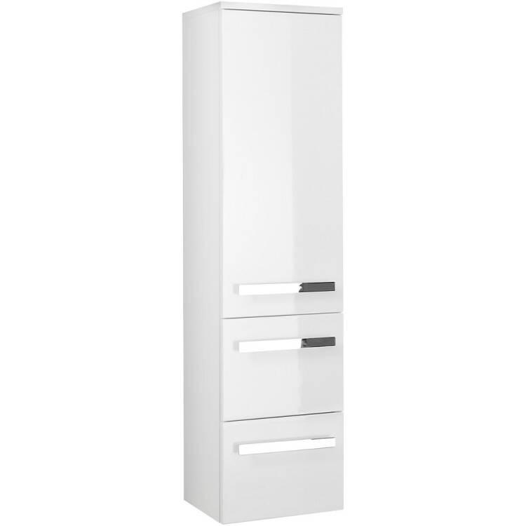 Badezimmer Midischrank Hangend Fes 4005 66 In Hochglanz Lack Polarweiss
