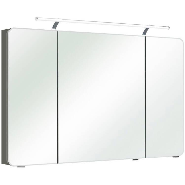 Bad Spiegelschrank mit LED & Steckdose FES-4005-66 Korpus Lack Steingr