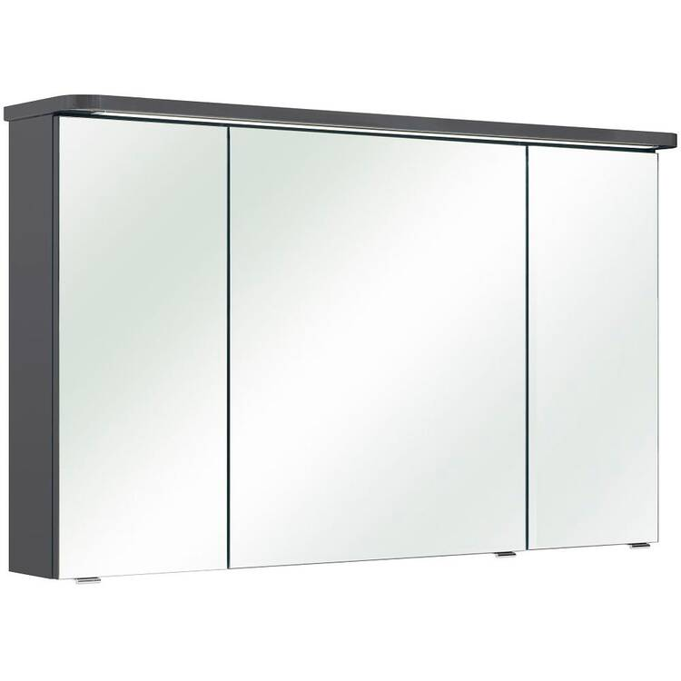 Gut bekannt 3-türiger Badezimmer Spiegelschrank FES-4005-66 Korpus Lack Steingrau, TB15