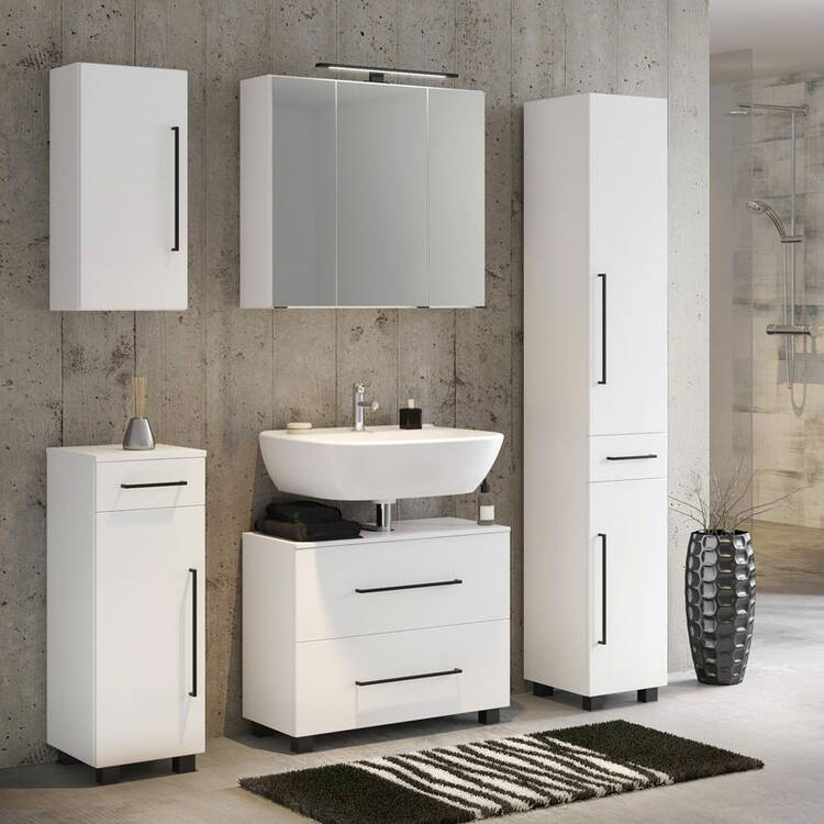 badm bel set 5 teilig inkl 70 cm waschbeckenunterschrank. Black Bedroom Furniture Sets. Home Design Ideas