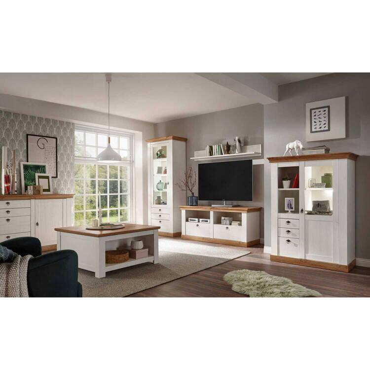 Möbelserie Linares 61 Landhaus Stil In Pinie Weiß W