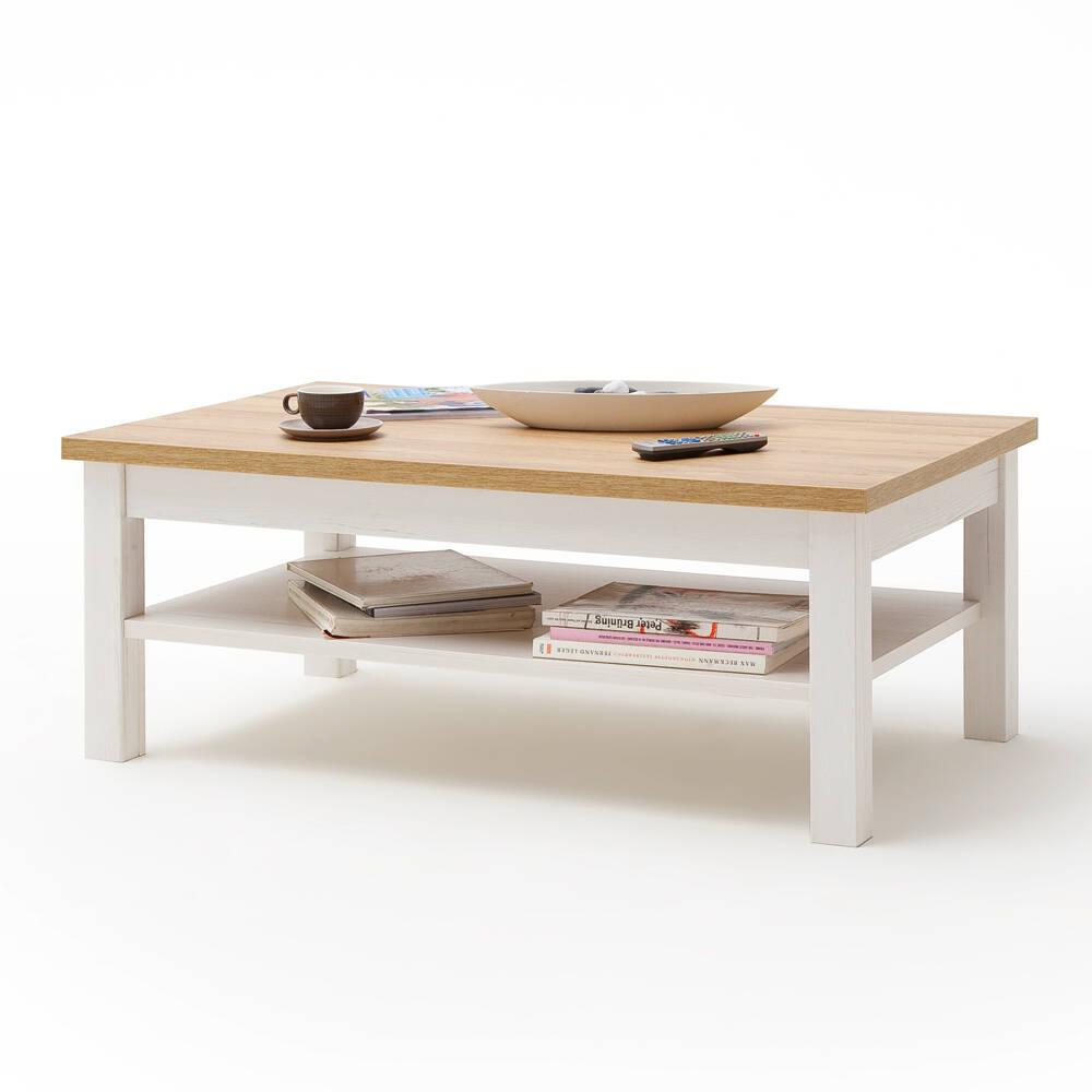 Couchtisch Wohnzimmer BRASILIA-05 Tischplatte in Grandson Oak & Gestell Pinie Aurelio Nb. - B/H/T: 114/46/70cm