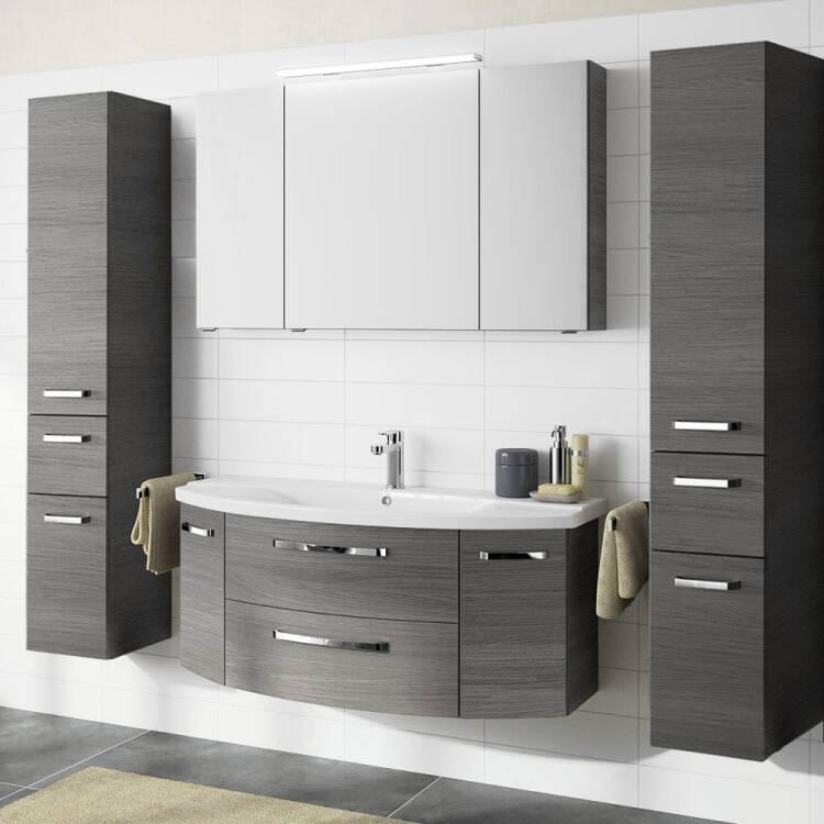 Badezimmer Set Günstig : badezimmer set fes 4010 in graphit struktur mit 120cm ~ Watch28wear.com Haus und Dekorationen