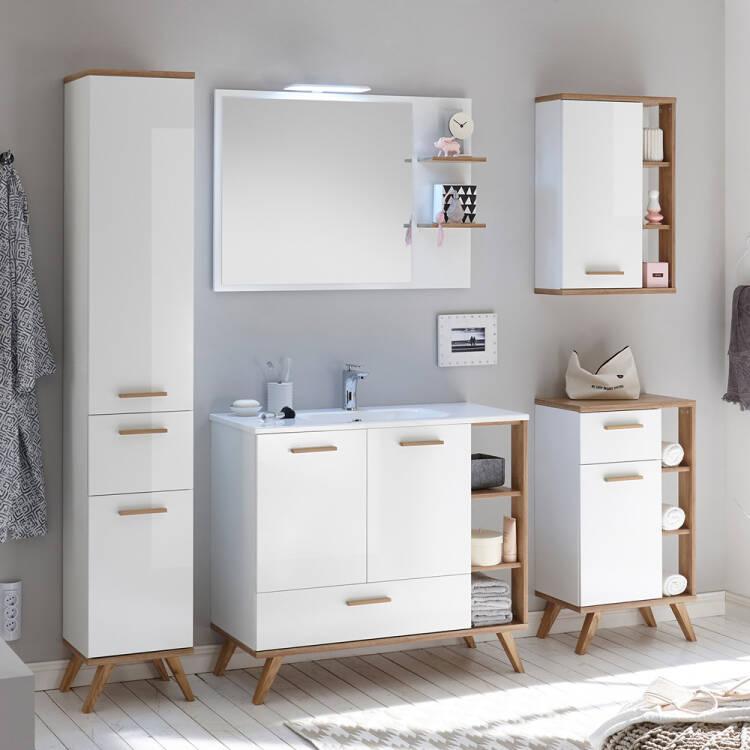 badezimmer möbel malanje66 set in weiß glänzend  riviera