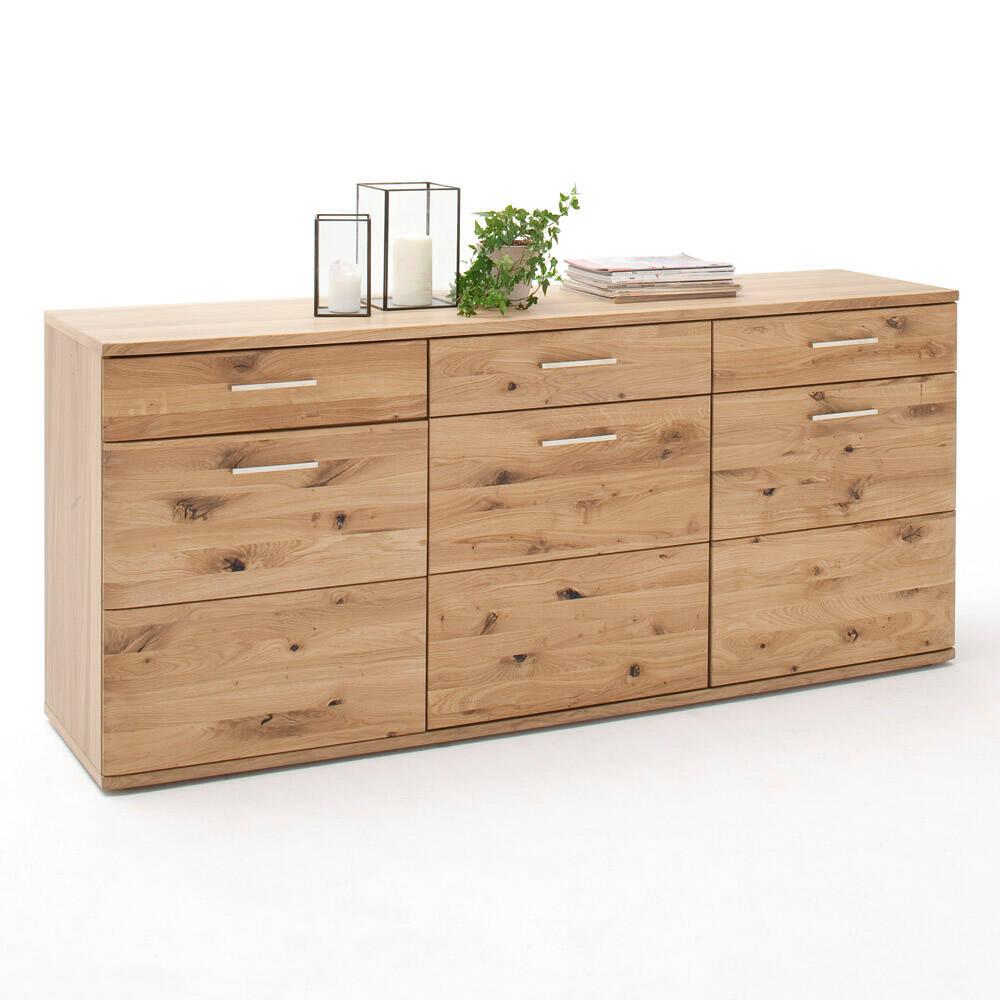 Sideboard SAMARA-05 Ess- und Wohnzimmer Anrichte aus Asteiche Bianco massiv - B/H/T: 180/78/44cm