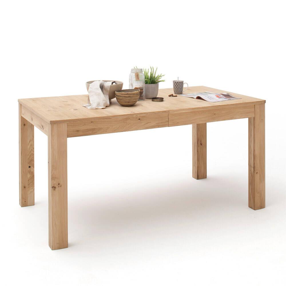Esszimmer Esstisch SAMARA-05 Massivholz-Tisch aus Asteiche Bianco massiv - B/H/T: 160/77/90cm